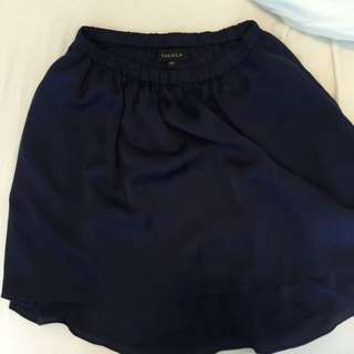 Talula high rise high low silk skirt