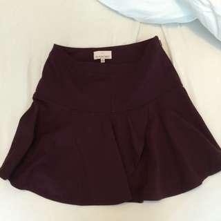 burgundy Aritzia skirt