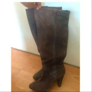 Distressed Leather Boots