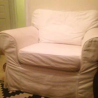 White IKEA Arm Chair
