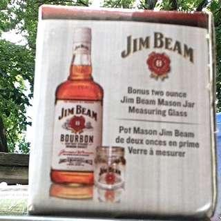 Jim Bean Mason Jar Measuring Glass