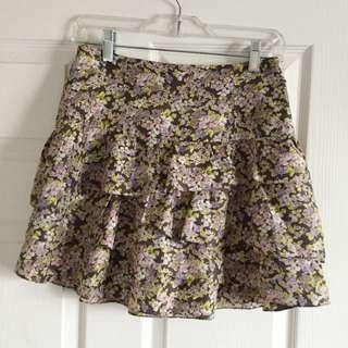 Wilfred High Waisted Silk Skirt