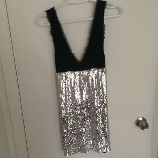 Sequinned Bebe Dress