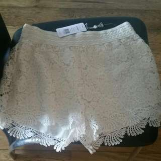Sexy Lace Type Looking Shorts Size 10