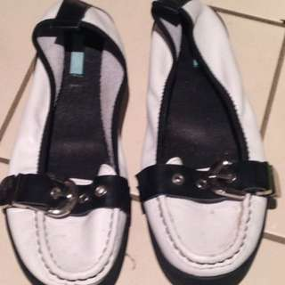 Brand New Black And White Zazou Shoes