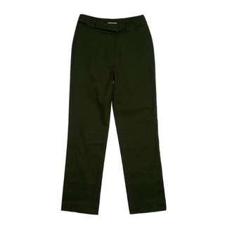 HOHO腰間束帶設計質感優西裝亮面直筒褲