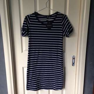 Navy Blue T Shirt Dress
