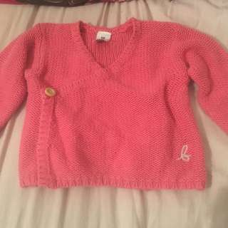 Bonds Baby Knitted Cardigan Pink Size 00/000