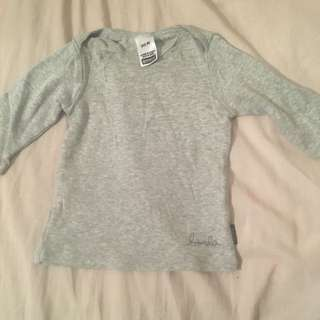 Baby Bonds Long sleeve Grey Top Size 00