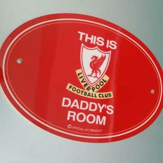 OFFICIAL LIVERPOOL FC PRODUCT  DOOR PLAQUE