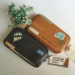 [Luv Vintage] Travelers Pencil Case (Big)