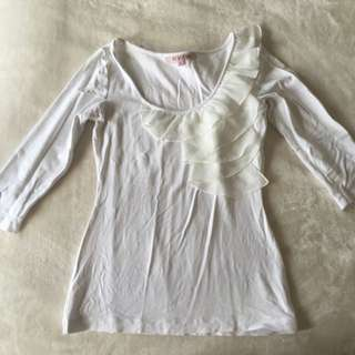 REVIEW: White Top With frill