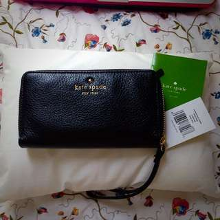 Kate Spade Lacey Wristlet - Cobble hill Black