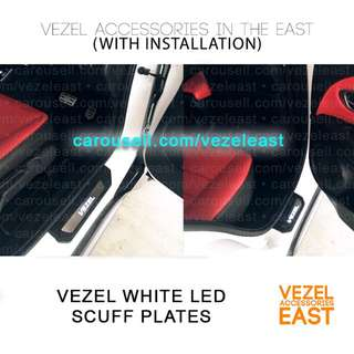 White LED Scuff Plates with Install