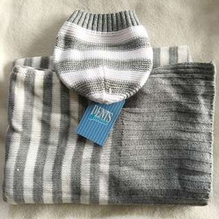 Baby Beanie& Blanket Knit Matching Set
