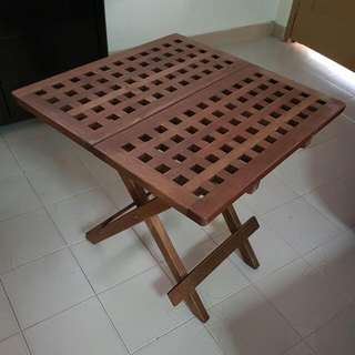 Foldable Table | Wooden Table | Rustic Looking | Ikea | Side Table | Living Hall | Reading | Writing | Laptop | Bedside