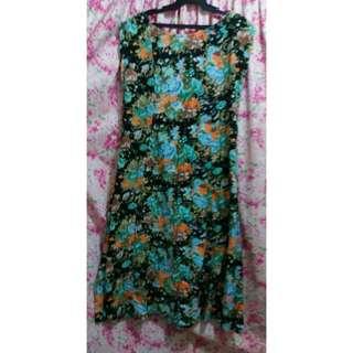 Mum's Crossed-back Floral Dress