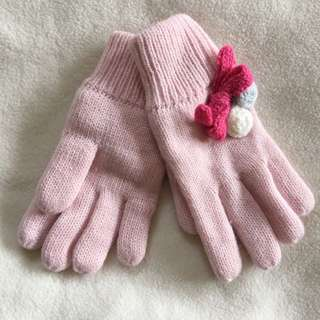 Girls Double Knit Gloves