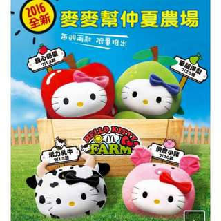 Hello Kitty Taiwan McDonalds Collection 2016