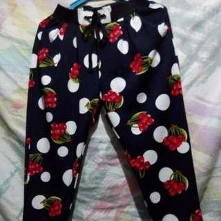 Cherry polka pants