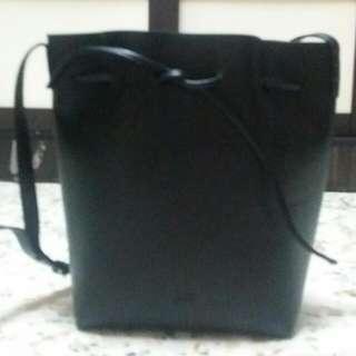 A Black Color Leather Bag
