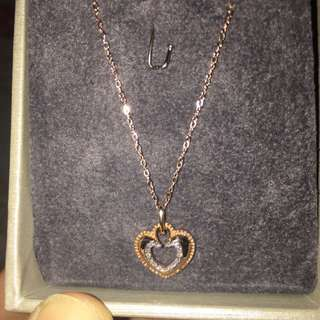 goldheart rosegold 14k necklace with diamonds