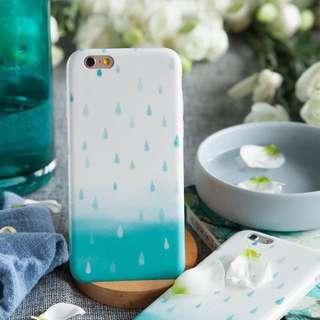雨滴 清新 水彩 漸層 iphone6 iphone6s 磨砂軟殼 手機殼