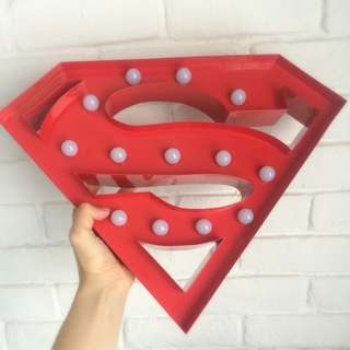 Marquee Light / Night Light - Superman in Fire-engine Red