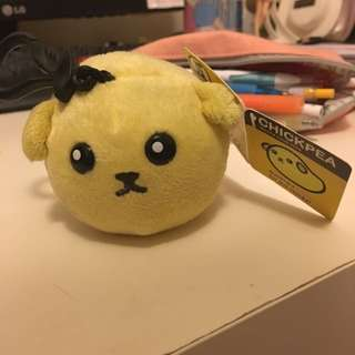 Mameshiba Plush Chickpea Keyring