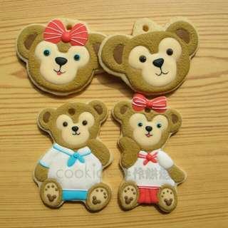 Cookids手作烘焙 達菲婚禮小物 糖霜餅乾