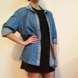 Vintage Denim button Down Shirt
