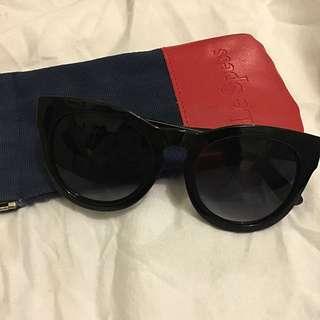 Lespecs All Black Cat-eye Sunglasses