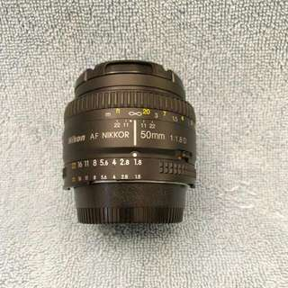 [RESERVED UNTIL 6PM MONDAY] Nikon AF Nikko 50mm F1.8D Lens