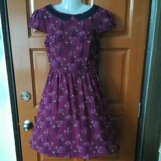 Dorothy Perkins Maroon Dress UK10