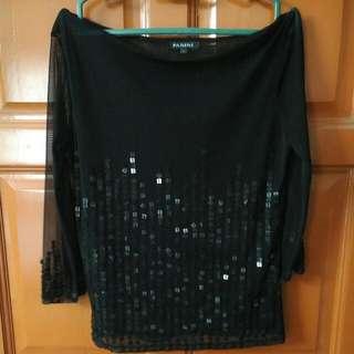 Sheer Black Padini Shirt Size L