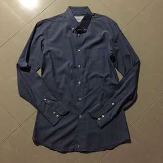 Dylan & Son - Dark Blue Business Casual Shirt