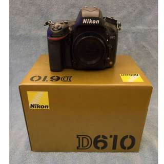 [RESERVED] Nikon D610 Body - Mint+ Condition