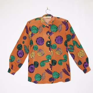 Funky button-up shirt. Size 10.