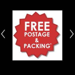 Free Registered Postage