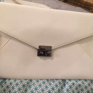 Large White Clutch Bag