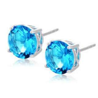 Earrings blue  Aqua Studs Assorted sizes