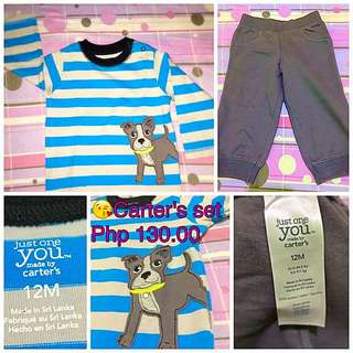 Reserved Php 130 Carters Set For 1 Yr Old