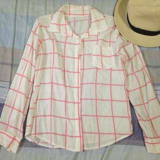 Pink Checkered Button Down