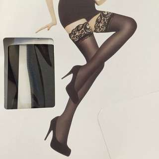Kneecap Length Only: Black Or White Stockings