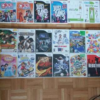 Assorted Wii Video games
