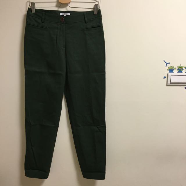 「專櫃」挺版軍綠西裝褲