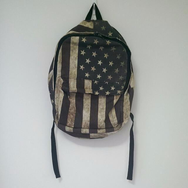 復古美國國旗後背包