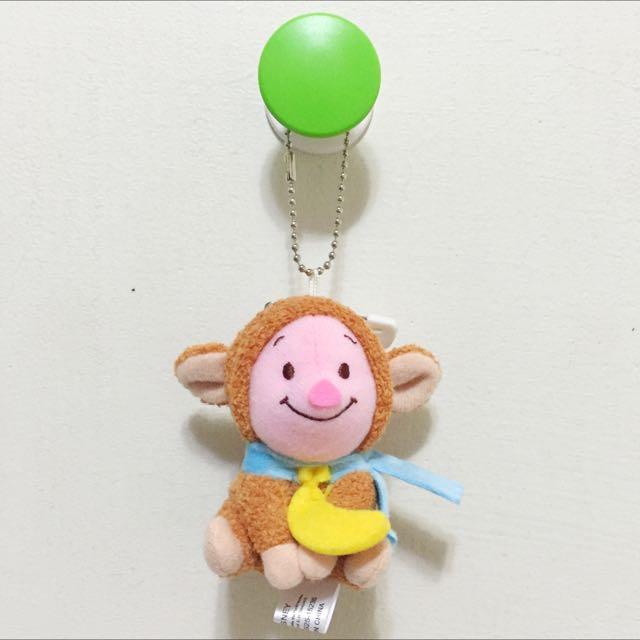 迪士尼 小熊維尼 小豬 猴年限定 玩偶吊飾