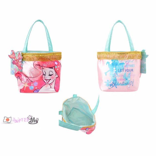 現貨 日本東京迪士尼商店 小美人魚 托特包 單肩包 賽巴斯丁可拆證件夾 名片夾