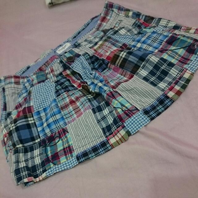 澳洲購入 AE 4號 童趣拼布綿短裙